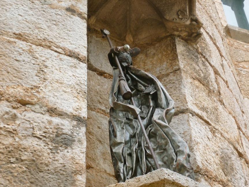 Statuette en bronze représentant un pèlerin