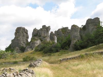 Sur le Causse Noir, au sud de l'Aveyron