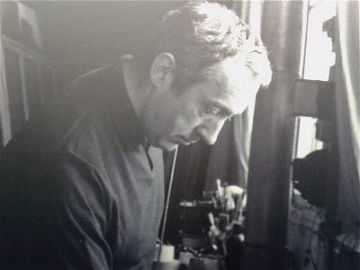 Le peintre dans son atelier, en 1946.