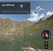 Voir la fin de la randonnée sur Google Street Views