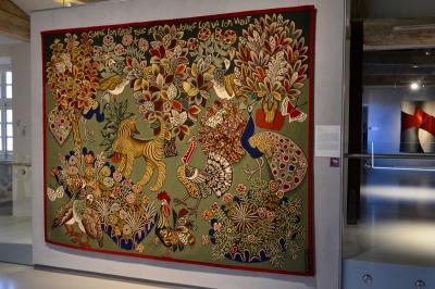 """""""Garden Party"""". Les oeuvres de Dom Robert (1917-1997) s'échelonnent des années 30 aux années 80."""