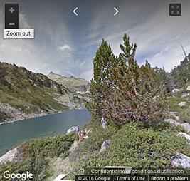 Voir sur le parcours de la randonnée sur Google Street Views