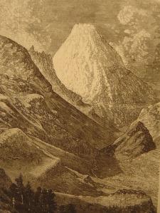 Le Pic du Midi, illustration de L. Hacault (1872).