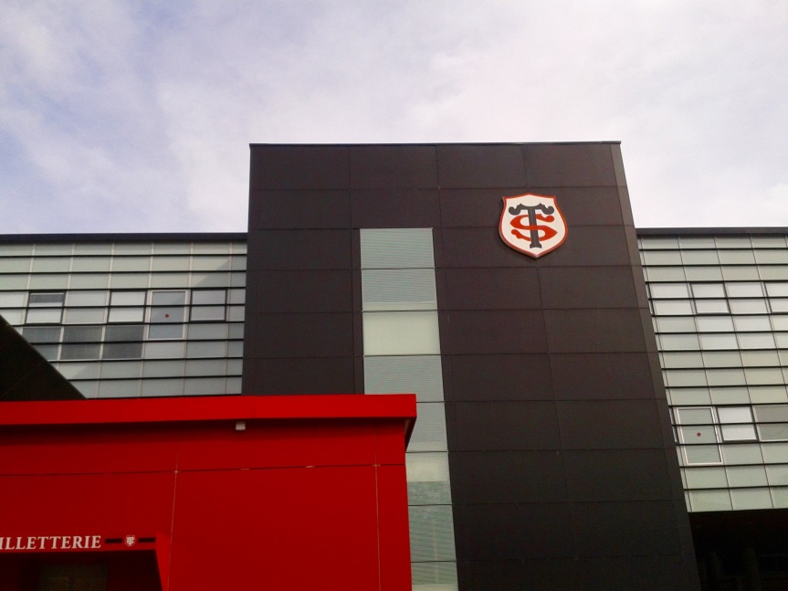 Fief de l'équipe du Stade Toulousain, le stade Ernest Wallon dans le quartier des Sept Deniers à Toulouse.