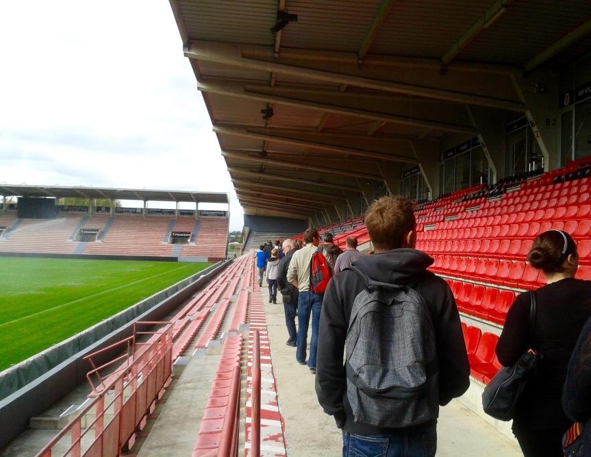 Une découverte privilégiée du stade Ernest Wallon (19 500 places), où se jouent les rencontres du Stade Toulousain.