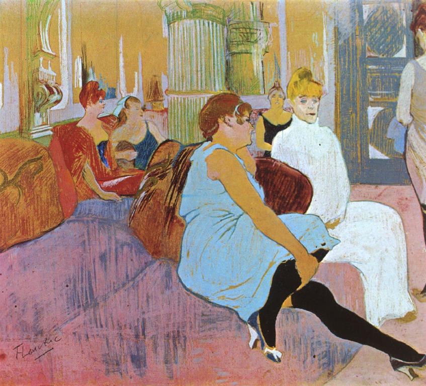 Henri de Toulouse-Lautrec - Le salon de la rue des Moulins (1894).
