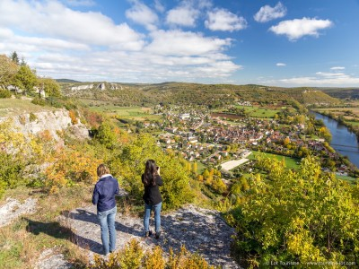 Point de vue sur Cajarc au Lieu-dit La Plogne